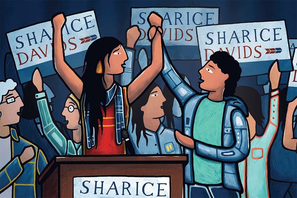 WARRIOR TALK: U.S. Rep. Sharice Davids explains her path to Congress to youth, offers economic wisdom to adults